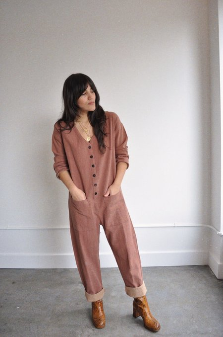 Happy French Gang Jumpsuit - Terracotta