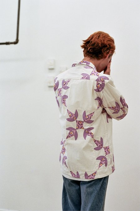 BODE Four Patch Quilt Havana Shirt