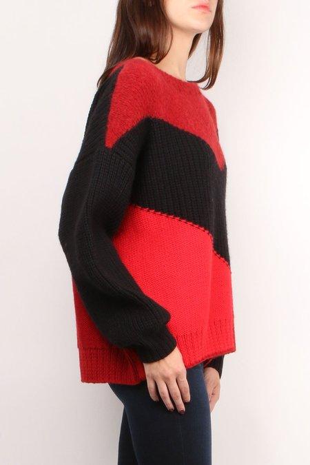 ALBA Victoria Sweater - black/red