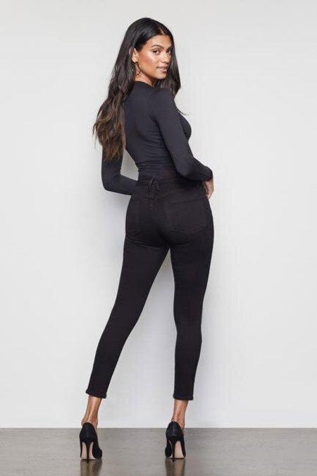 Good American Good Legs Crop Stretch Jean - Black