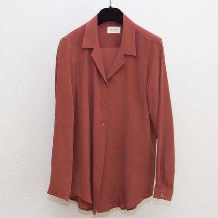 SUNAD NAMBUNG silk shirt - Terracotta