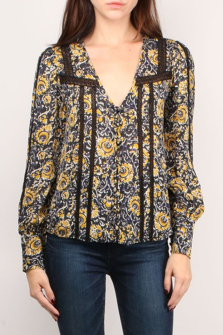 Veronica Beard Tarry Blouse - Multi
