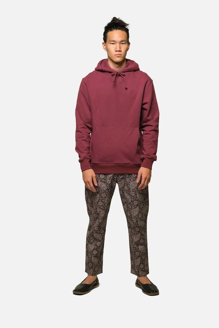 House of St. Clair MORTON AVE HOODIE - CRIMSON