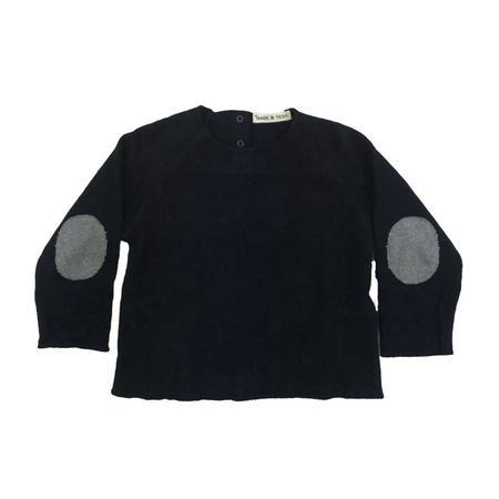 kids babe and tess baby sweatshirt - navy blue
