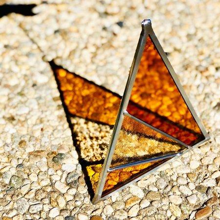 Debbie Bean Ray's Triangle Suncatcher - Buckwheat