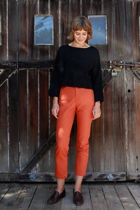 Me & Arrow Tomboy Pants - Burned Orange Canvas