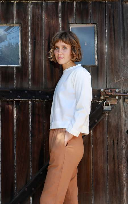 Me & Arrow Crew Neck Pullover - White Flannel