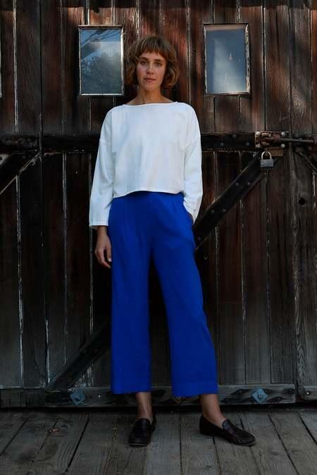 Me & Arrow Pleated Pants - Azul Blue
