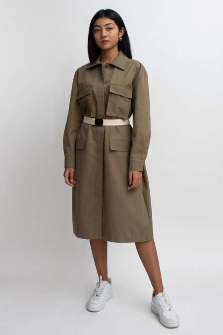 W A N T S Cargo Belted Dress - Olive