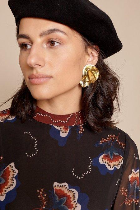 Leigh Miller Padina Earrings - Brass