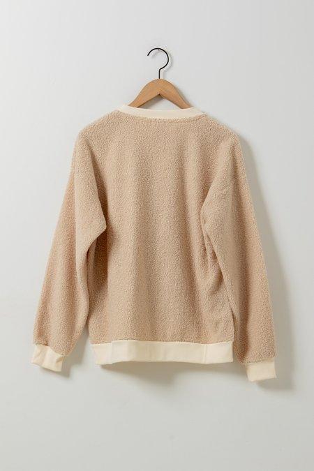 Donni. Mini Sherpa Henley - Cream
