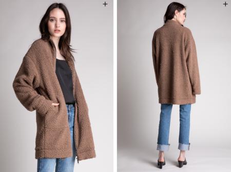 Grade & Gather Oversized Sherpa Jacket - Natural