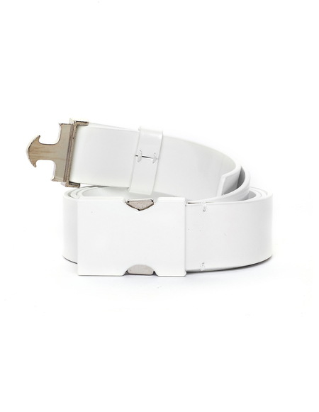Maison Margiela Leather Belt - White Blue