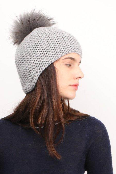 Inverni Pom-Pom Beanie - Grey