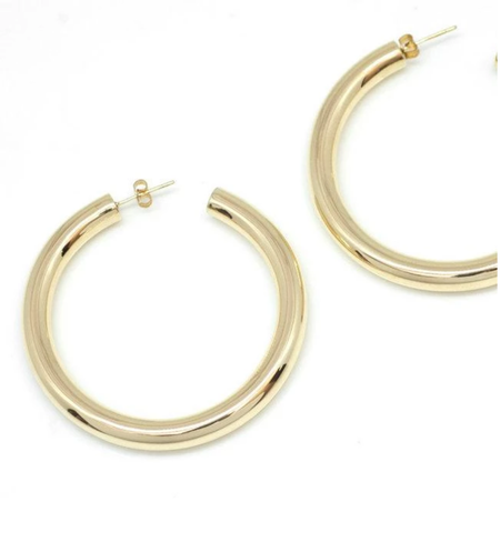 VAYU Simple Hoop - Gold