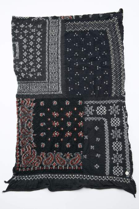 Kapital Compressed Wool Scarf - Bandana Patchwork