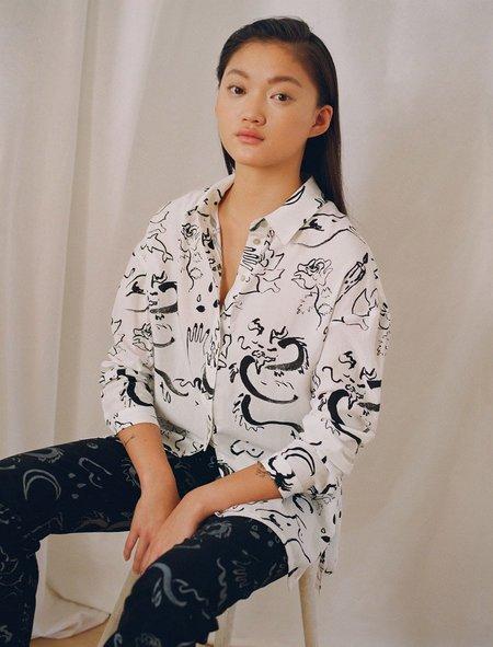 Paloma Wool Dragon Blouse - roulette print