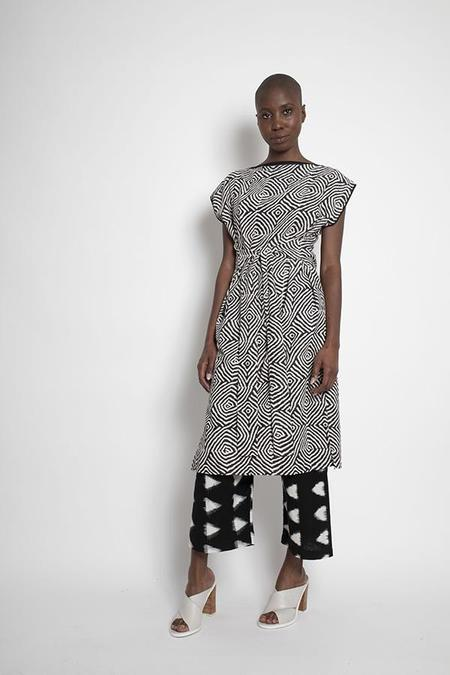 H. Fredriksson KANTHA WRAP DRESS - Block Print