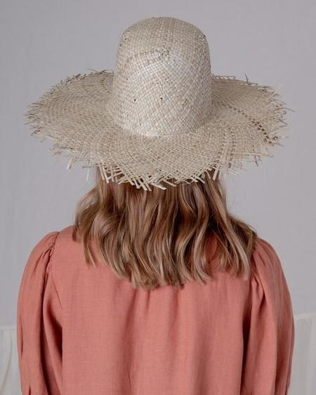 Brookes Boswell FRINGE HAT - Seagrass Straw