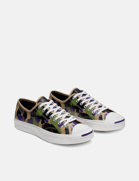 Converse 70's Archive Print Chuck Taylor Low - Black/Candied Ginger/Purple