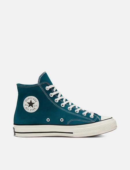 Converse 70's Suede Chuck Taylor Hi - Midnight Turquoise/Black/Egret