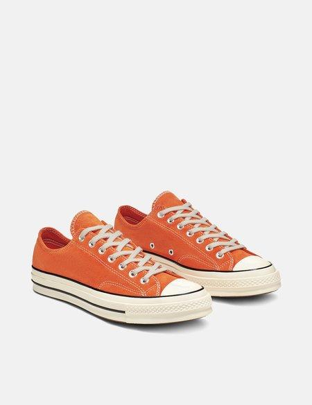 Converse 70's Chuck Taylor Suede Low - Campfire Orange/Black/Egret