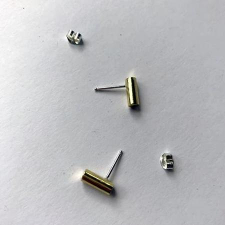 COSMIC TWIN Stewart Stud Earrings - Brass