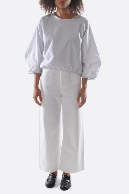 Chimala Yarn Dyed Vintage Chino twill sailor trouser - Off White