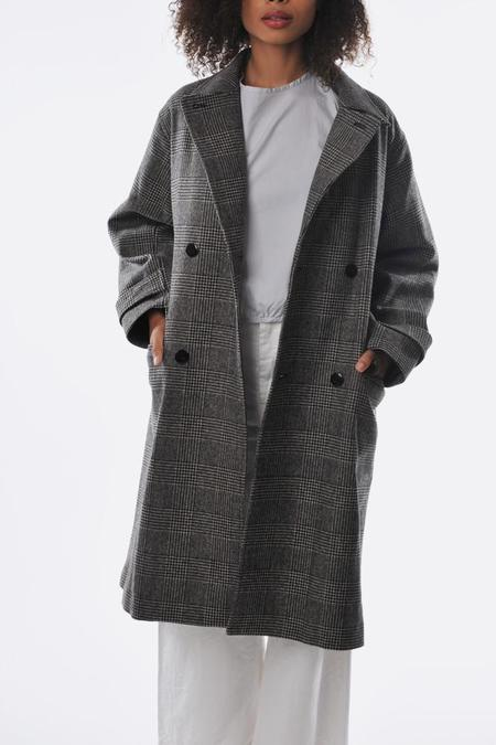 Unisex Chimala wool double breasted coat - glen check