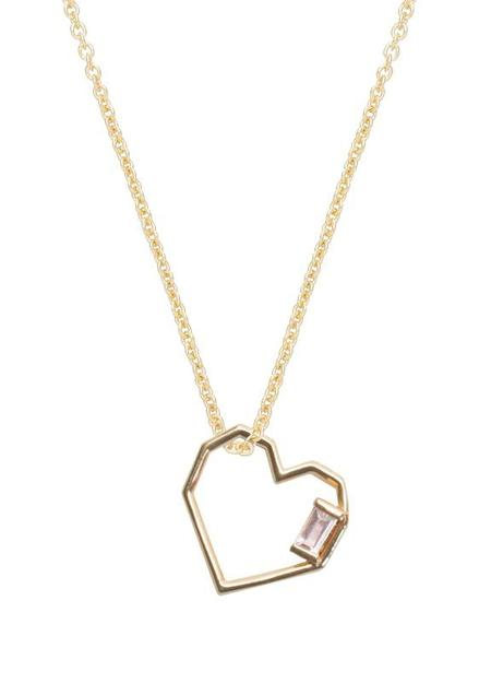 aliita CORAZON BAGUETTE Necklace - 9KT Yellow Gold