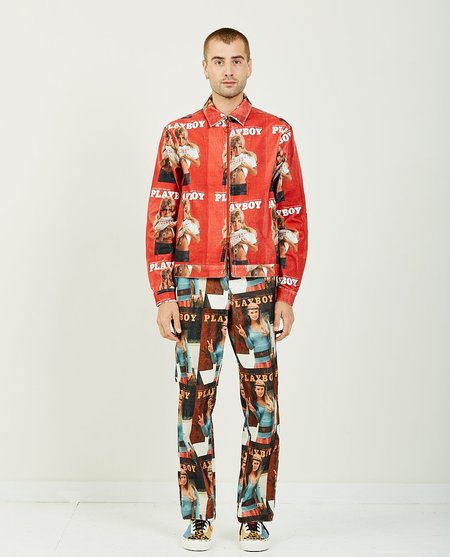 SOULLAND MEETS PLAYBOY TERRY CORDUROY JACKET - RED