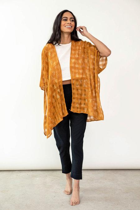 Maelu Designs Pyramid Short Kimono - mustard yellow