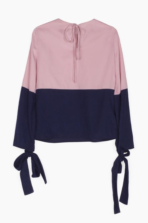SIZ MIRA BLOUSE - Pink/Blue