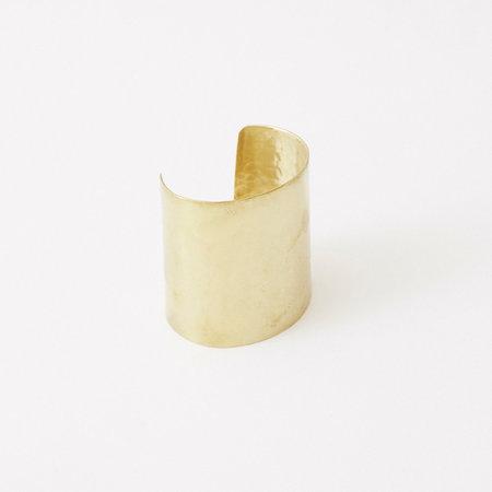 Crescioni form bracelet - brass