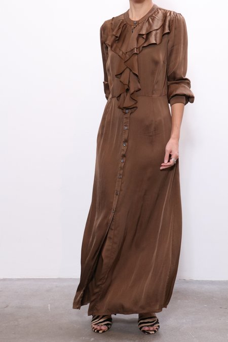 Raquel Allegra Victorian Ruffle Dress - Army