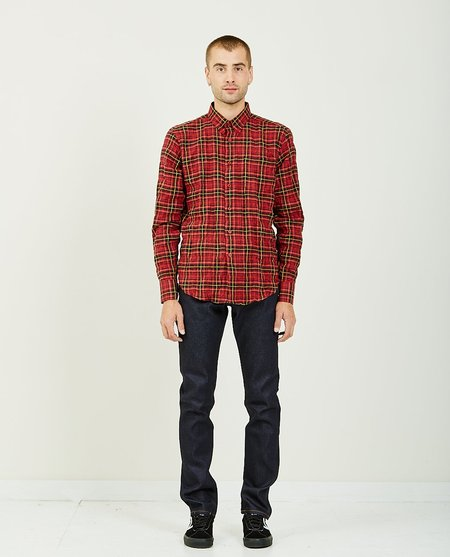Naked & Famous FOLK FLANNEL EASY SHIRT - Red