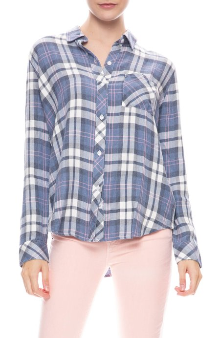 Rails Hunter Plaid Shirt - NAVY/CANDY/WHITE