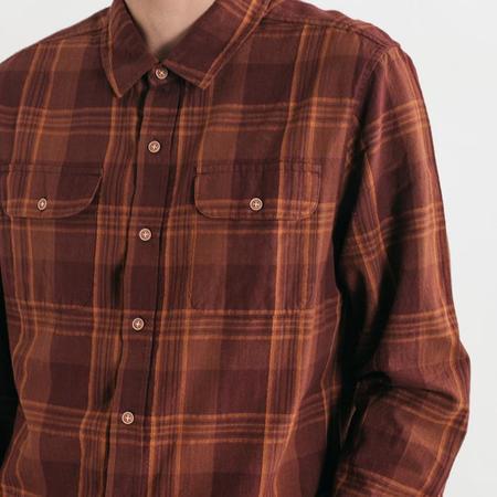Bridge & Burn Cole shirt - Burgundy Plaid