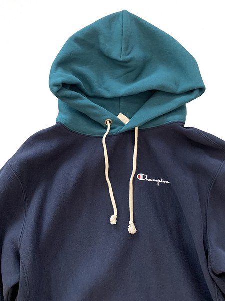 Champion Premium Reverse Weave Reverse Weave Color Block Hoodie - Navy/Green