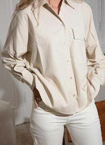 signe tugba raw silk shirt