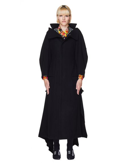 Yohji Yamamoto Wool Coat - Black