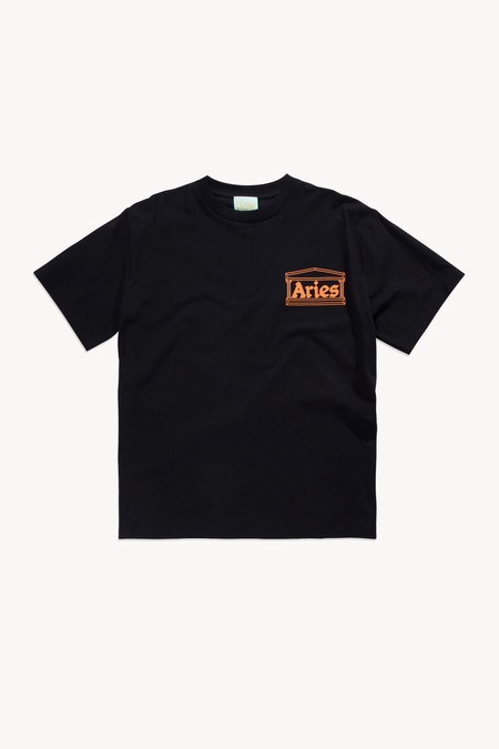 Aries Classic Temple T-Shirt - Black
