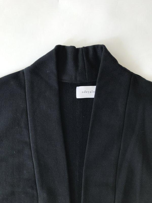 Odeyalo BLOOM kimono inspired overpiece - Black