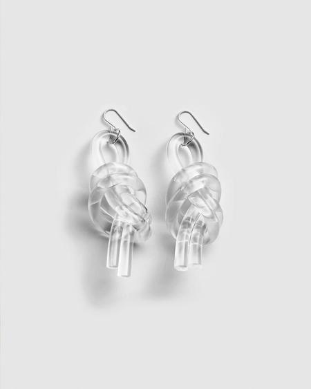 Corey Moranis Double Knot Earrings - Clear