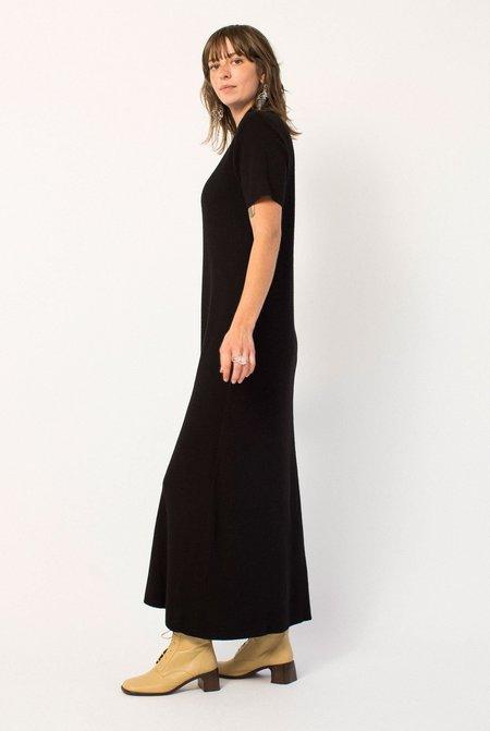 Preservation Vintage Full Length Knit Dress - Black