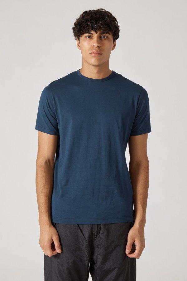 Sunspel Short Sleeve Crew Neck T-Shirt - Navy