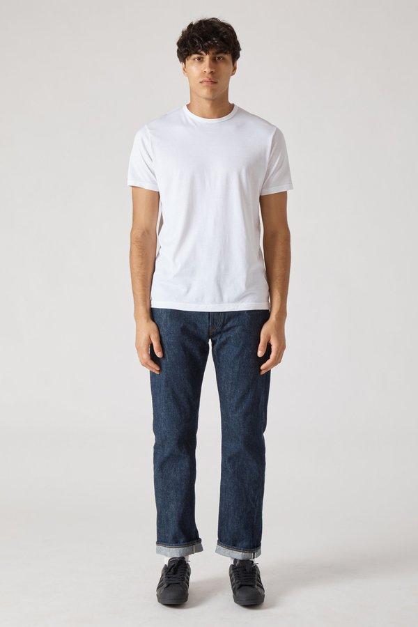 Sunspel Short Sleeve Crew Neck T-Shirt - White