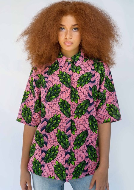 Yevu Button Down Shirt - Leaf