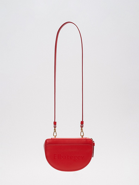 ELBATEGEV Nuts Bag - Berry Red/Gold Chain