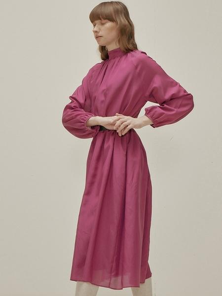 WNDERKAMMER Silk Blended Dress - Purple
